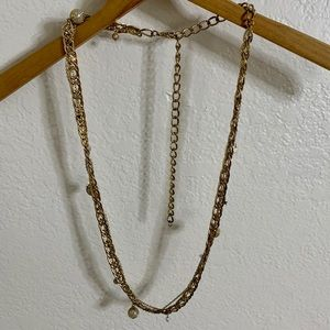 Layered Pearl Star Chain Necklace or Belt